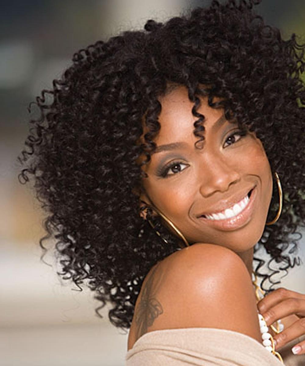 Black Women Medium Lenght Curly Hairstyles 2018-2019