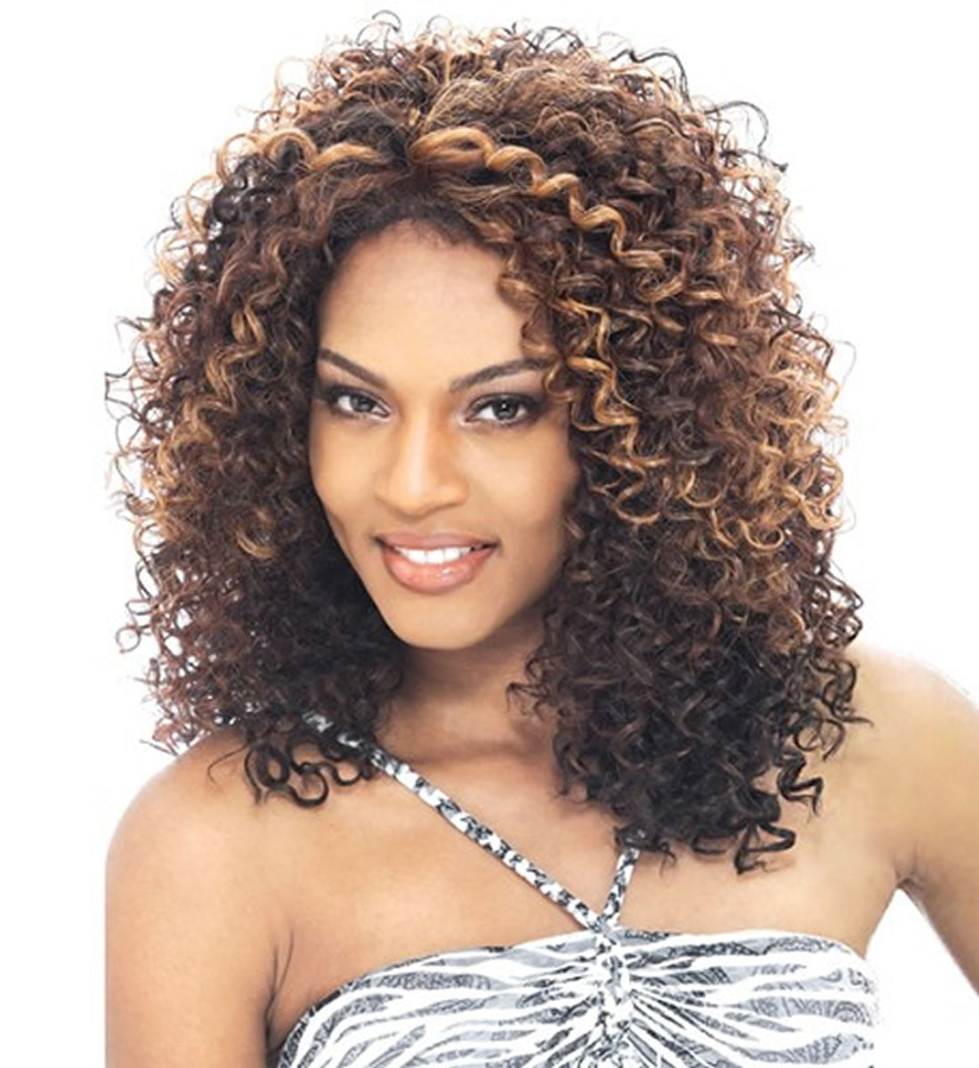 Black Women Medium Lenght Curly Hairstyles 2018-2019