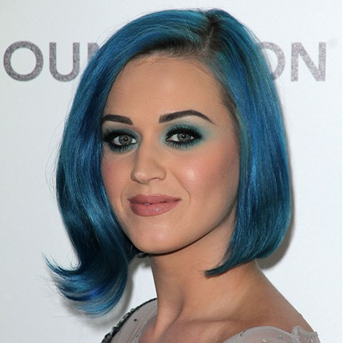 Blue hairstyles 2018-2019