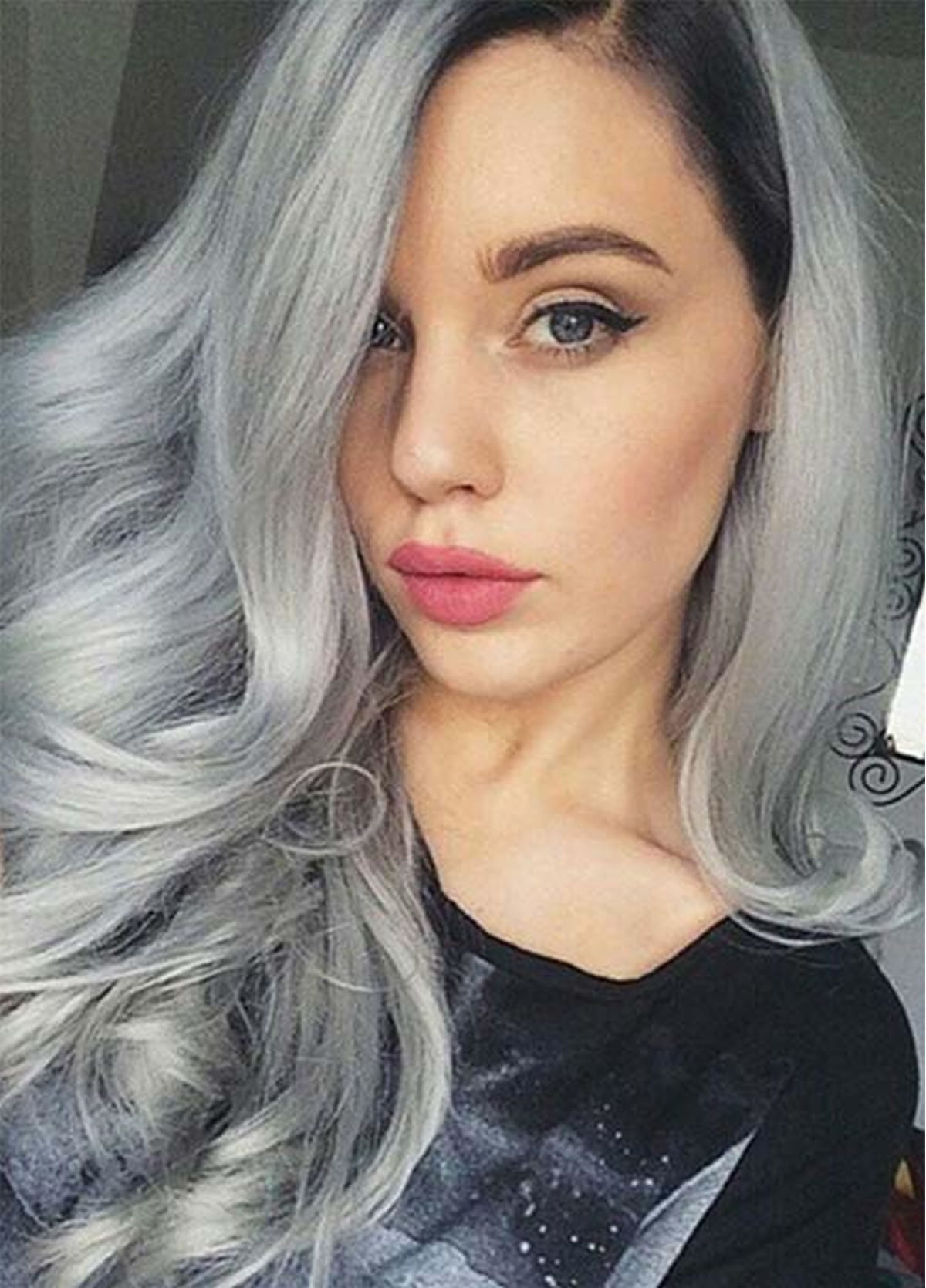 Gray hair color ideas 2018 2019 long hair tutorial for Color gray or grey