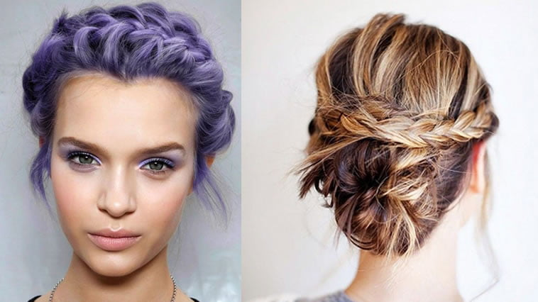 Hairstyles Braids With Color: Trendy 18 New Braided Hairstyles Short Hair For 2018-2019