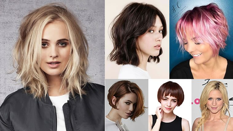 Best Bob Hairstyles For 2018 2019: Layered Medium Bob Haircuts And Hair Color Images For 2018