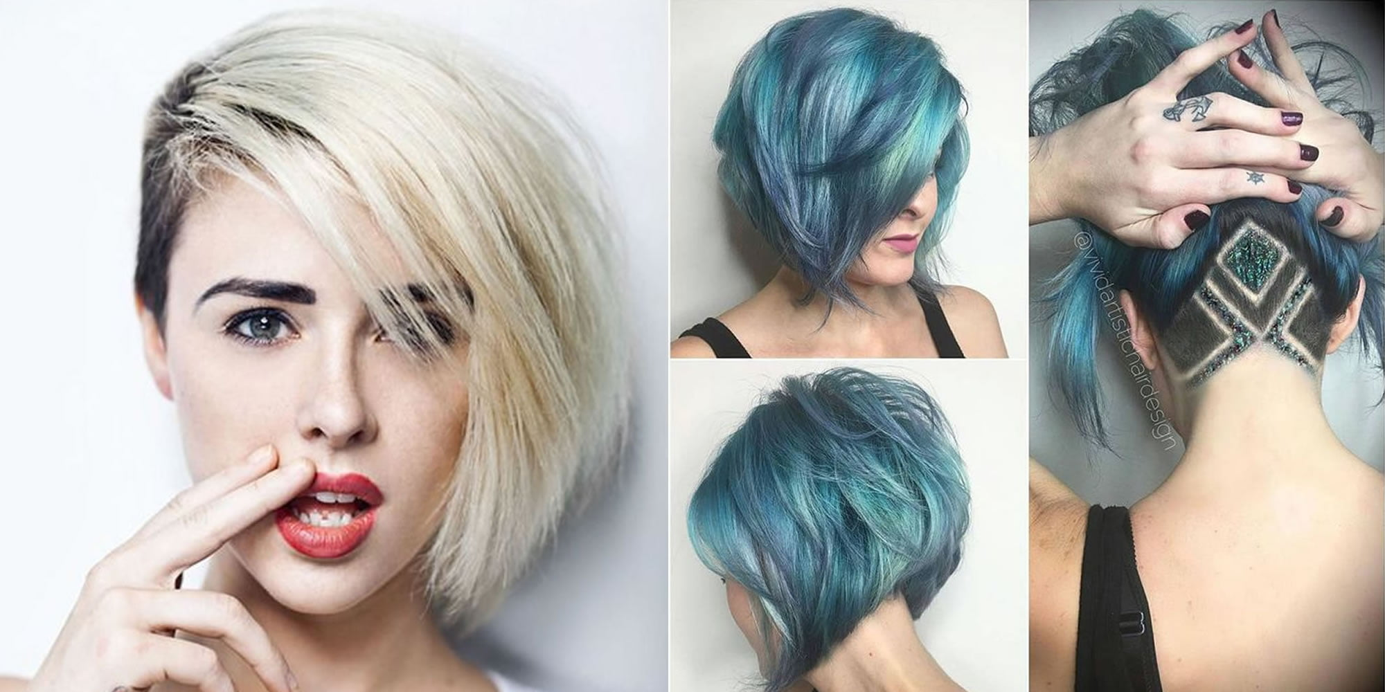 Short Bob Undercut Hairstyles And Hair Color Images For