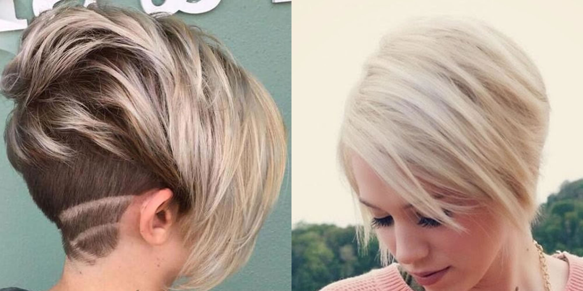 Short Bob Undercut Hairstyles And Hair Color Images For 2019 Page