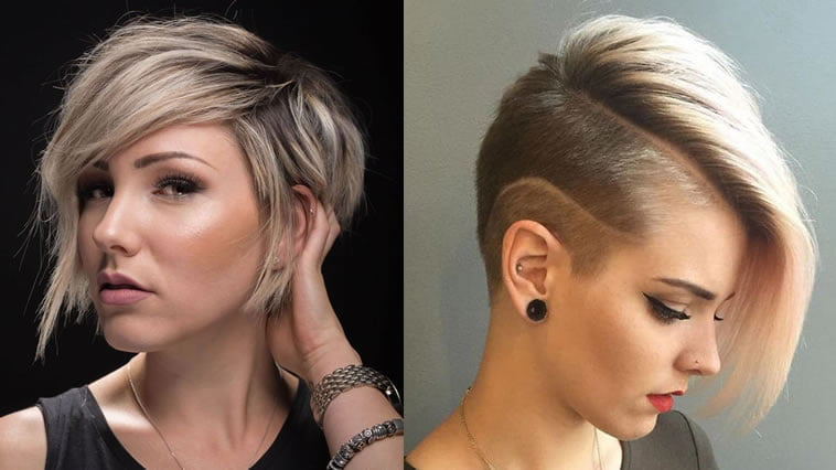 Short Bob Undercut Hairstyles and Hair Style Images for 2018-2019