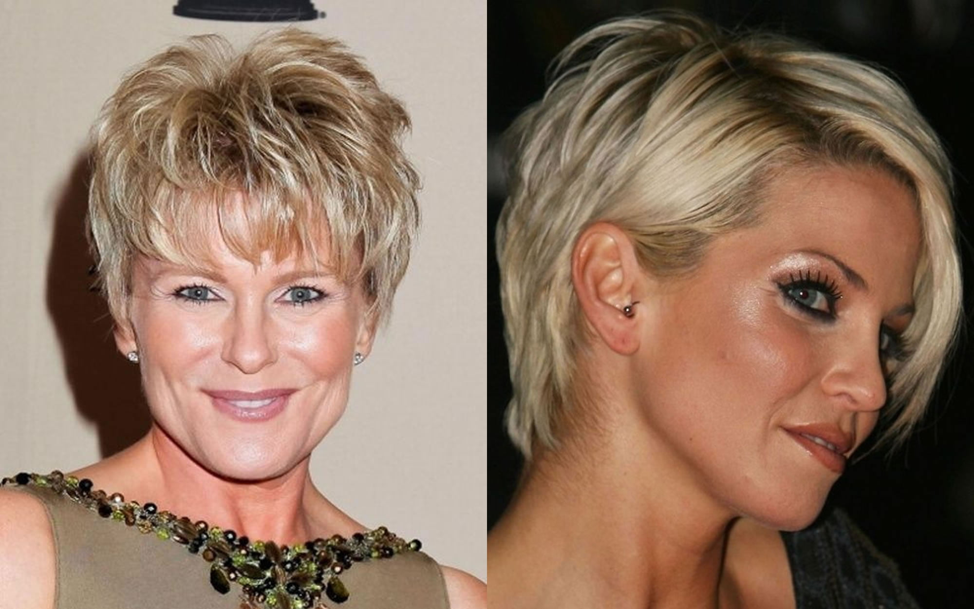 Short Haircut Images For Older Women & Pixie+Bob Fine Hair