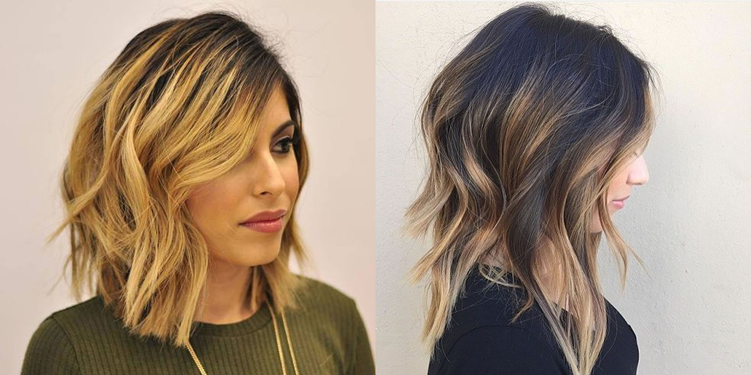 Long bob hairstyles and hair colors