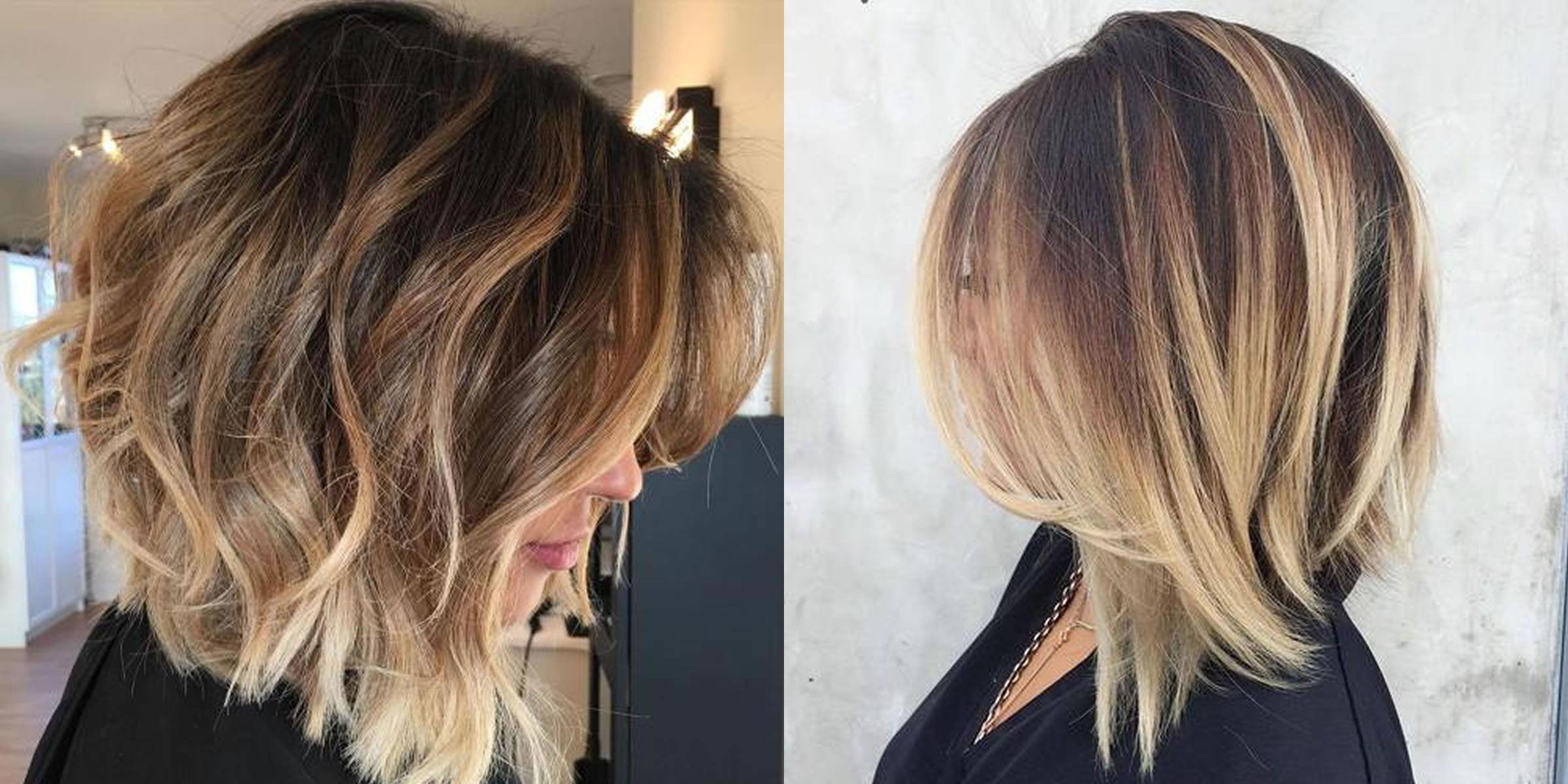 Long bob hairstyles and hair colors