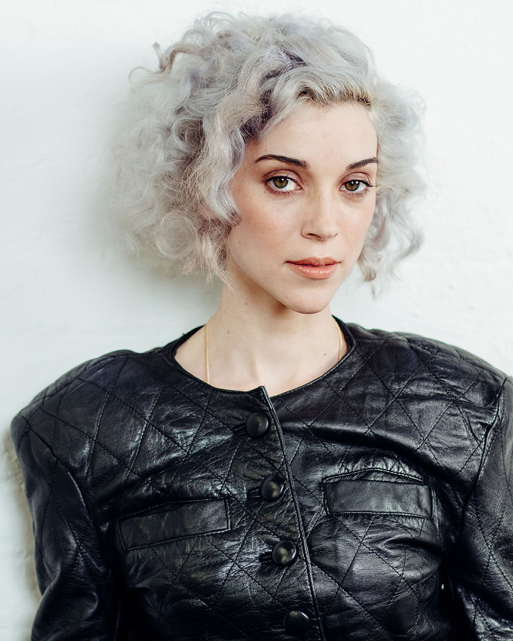 Gray Short Curly Hair Style 2019