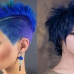 Blue hair color hairstyles 2018-2019