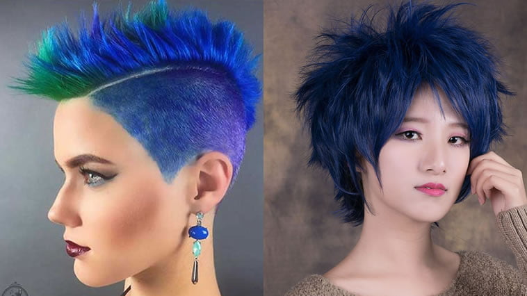 2018 Blue Hair Color Hairstyles for Pretty Women – Hair Colors