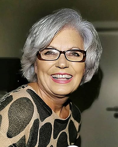 Gray hair color for women over 60