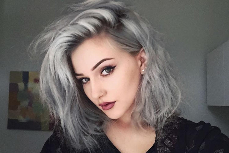 Long gray hair color ideas 2018-2019
