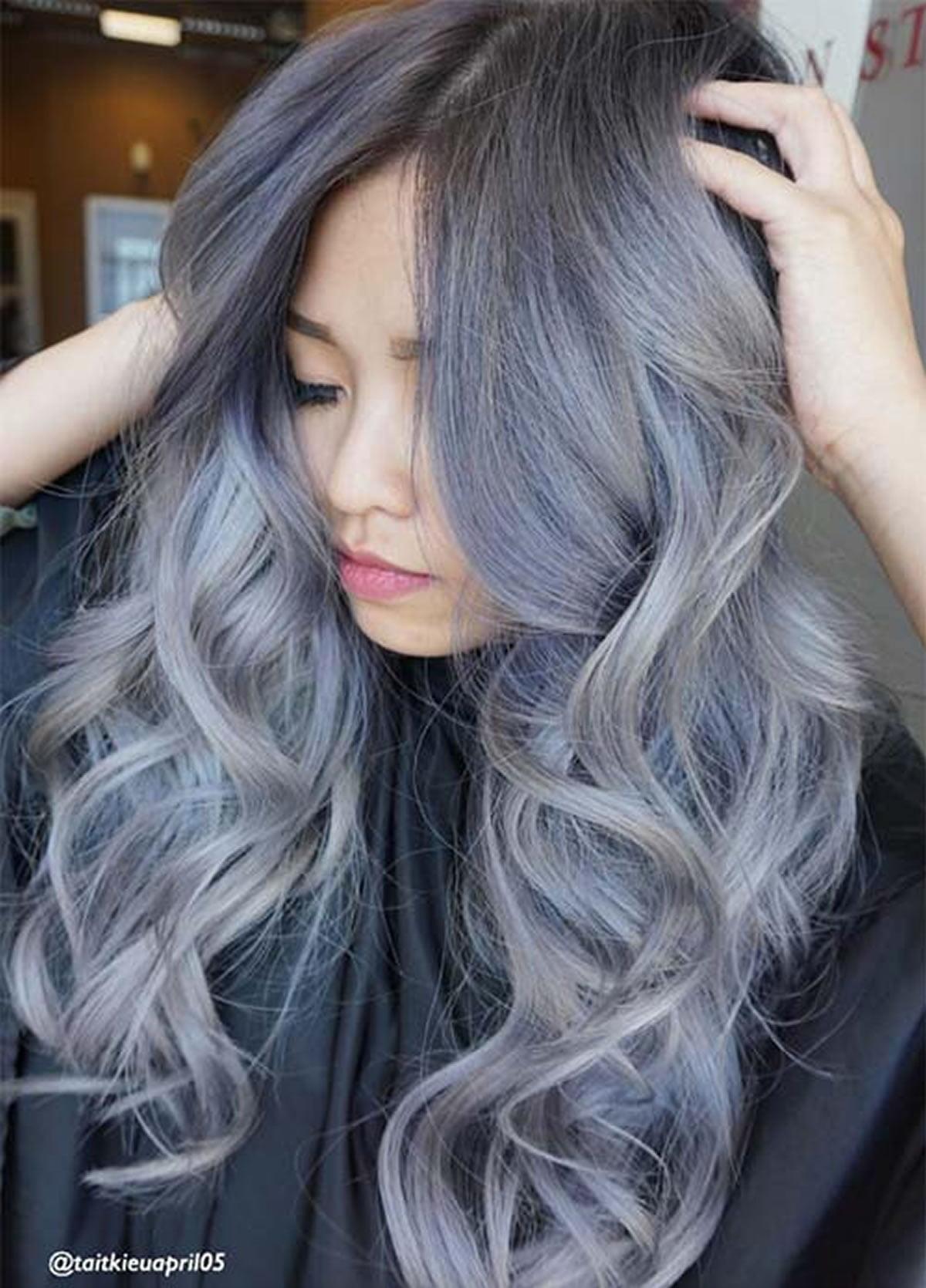 Gray hair color ideas 2018-2019 : Long Hair Tutorial ...