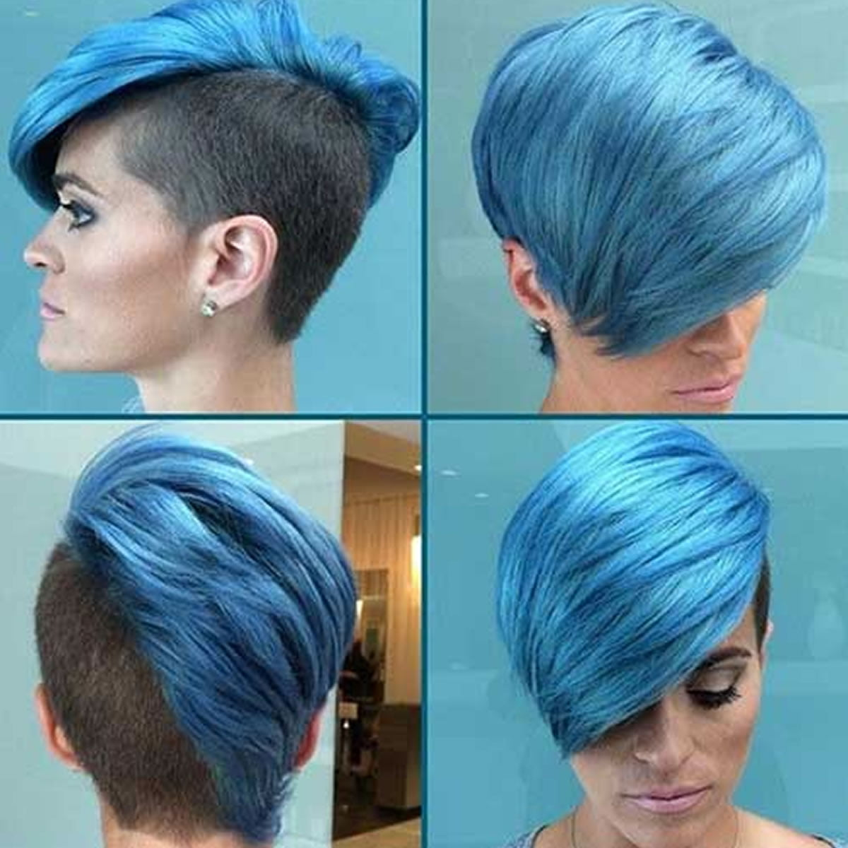 2018 Blue Hair Color Hairstyles For Pretty Women Page 3 Of 5