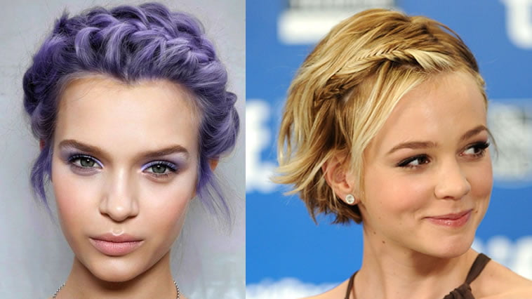 Hair Styles For Short Hair With Color: Trendy 18 New Braided Hairstyles Short Hair For 2018-2019