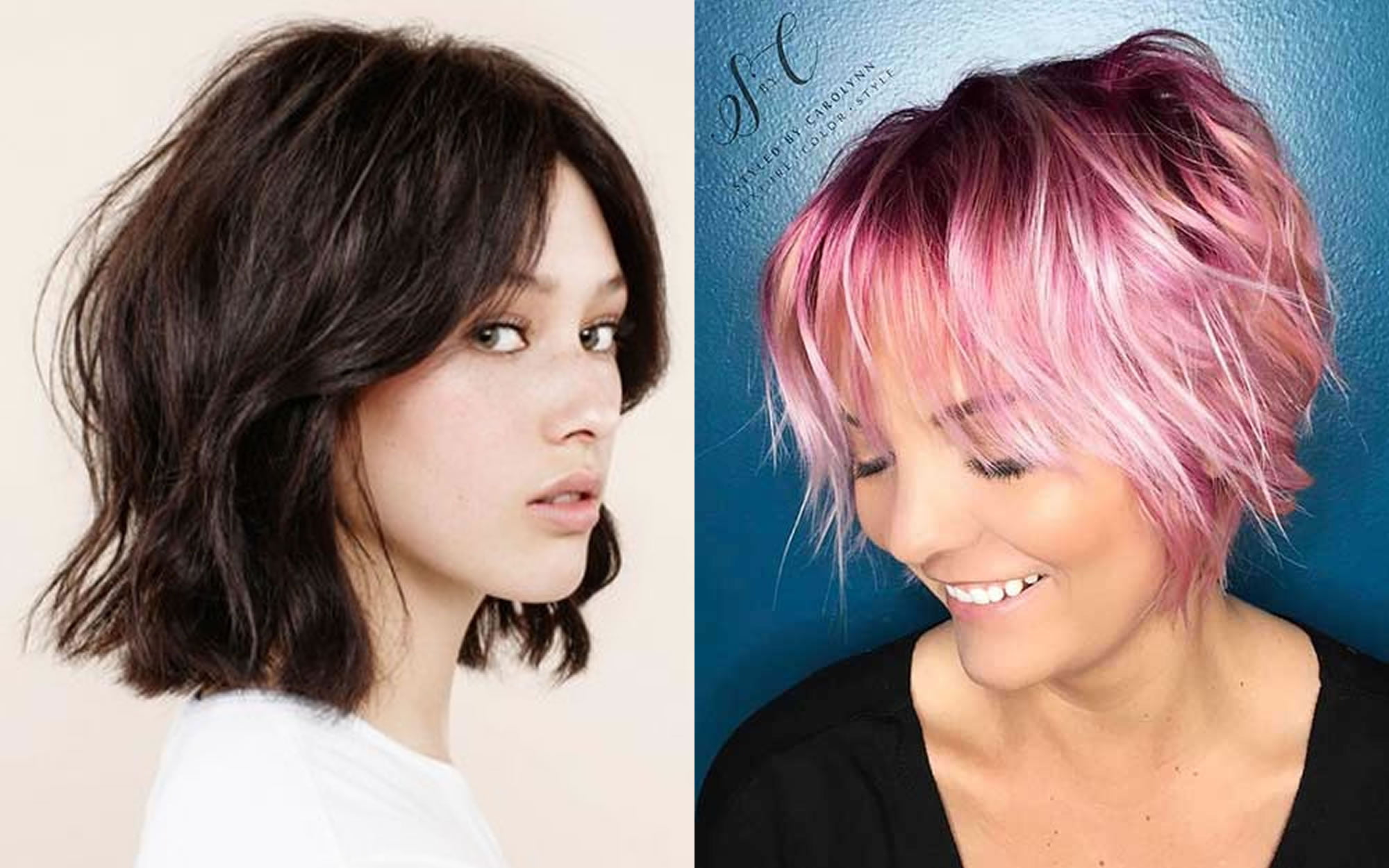 Layered Medium Bob Haircuts And Hair Color Images For 2018