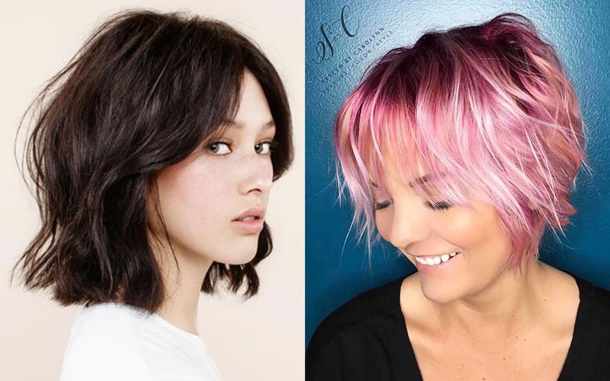 Layered Medium Bob Haircuts And Hair Color Images For 2018