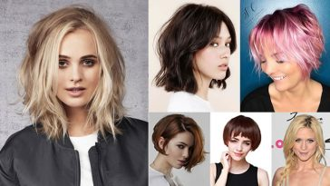 Layered Medium Bob Haircuts and Hair Color Images for 2018-2019