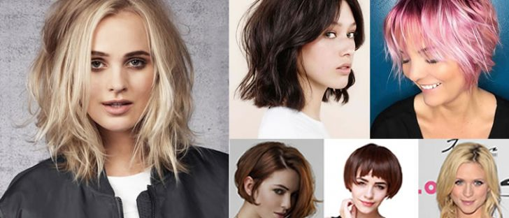 Layered Medium Bob Haircuts and Hair Color Images for 2018-2019