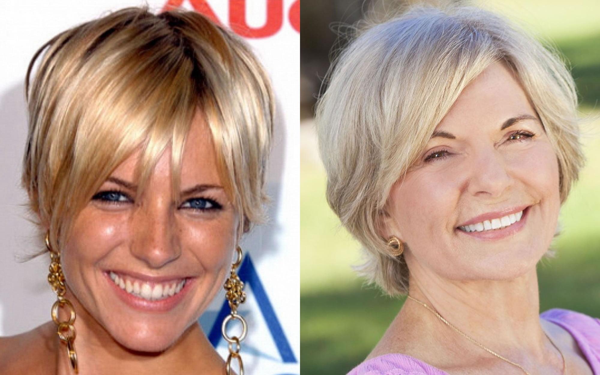 Short Haircut Images For Older Women Pixie Bob Fine Hair 2018