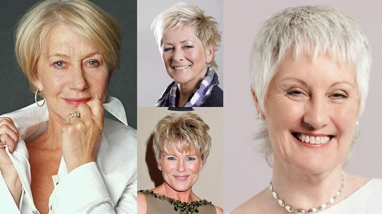 Short Haircut Images For Older Women & Pixie + Bob Fine Hair Style 2018-2019