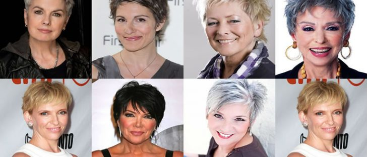 Short Pixie Hair cuts and Hairstyles for Older Women for 2018-2019