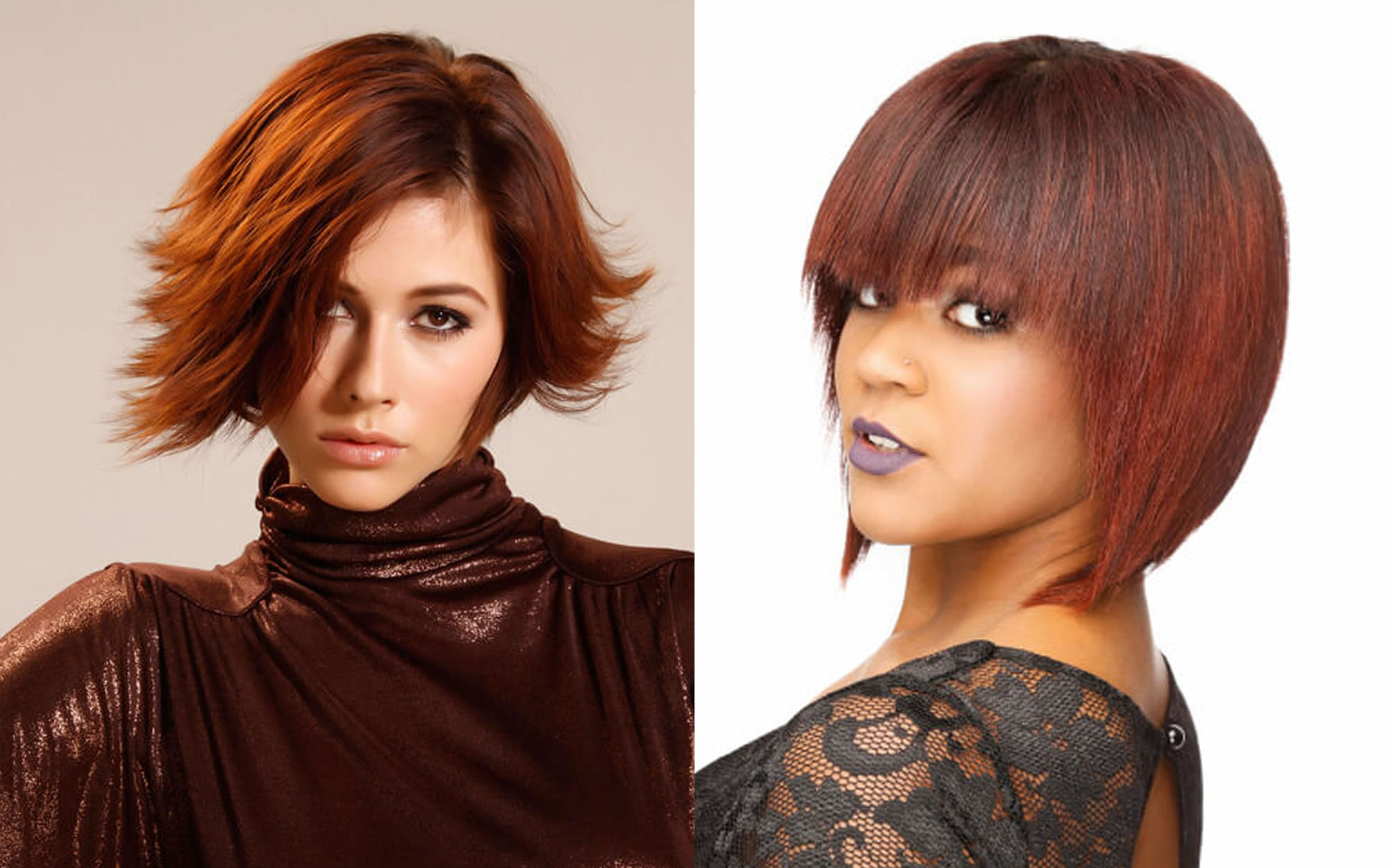 Layered Short Bob Hairstyles With Bangs And Hair Colors For Short Hair