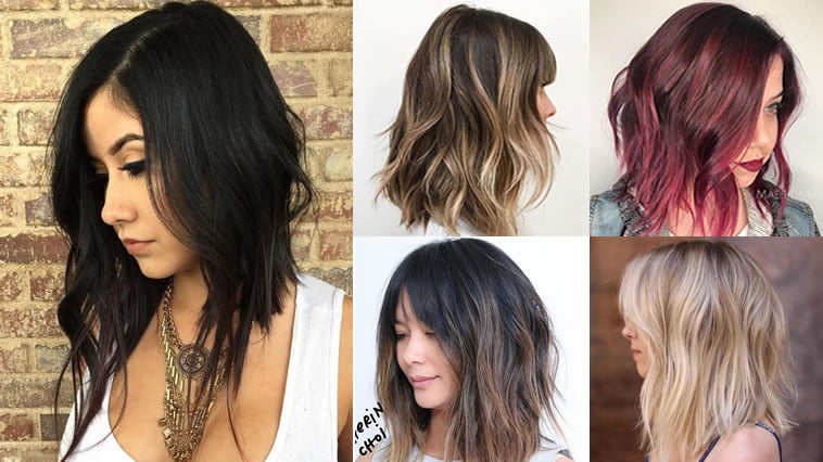 Long Bob Hairstyles and Hair Colors ( Balayage+Ombre) for Women