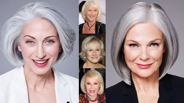 Medium Haircuts for Older Women Over 50 & Hair Color Ideas
