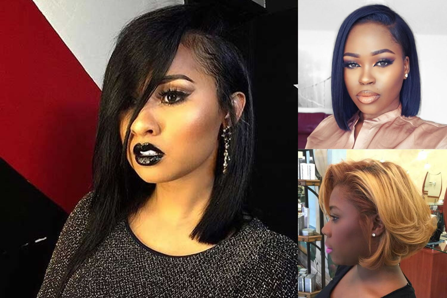 2018 Hairstyle For Dark Hair Color: Short Bob Hairstyle For Black Women & Hair Color Ideas