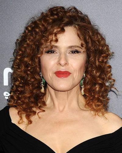 Brown hair color curly medium hair ideas for older women