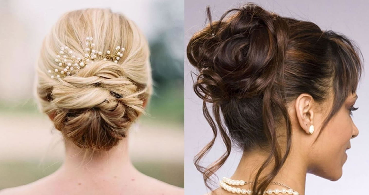 10 Beautiful Updo Hairstyles For Weddings 2019: Upde Hair Idea For Ladies