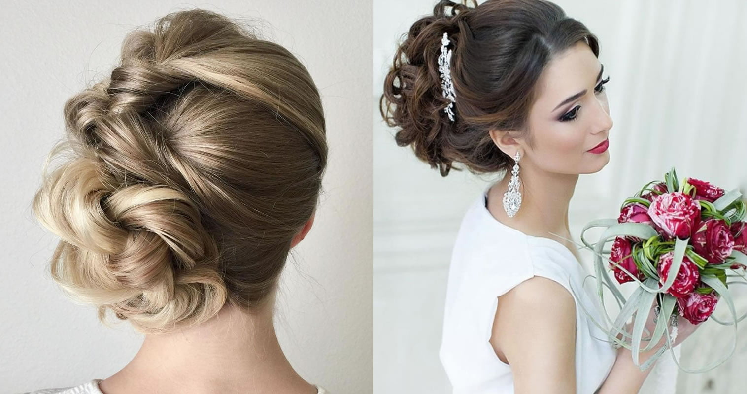 Updo Wedding Hairstyles 2019 Hair Color Ideas For Bride Page 7 Of 9