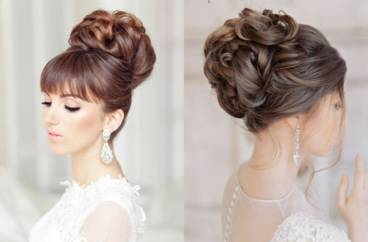 10 Beautiful Updo Hairstyles For Weddings 2019: Wedding Hairstyles Down 2019
