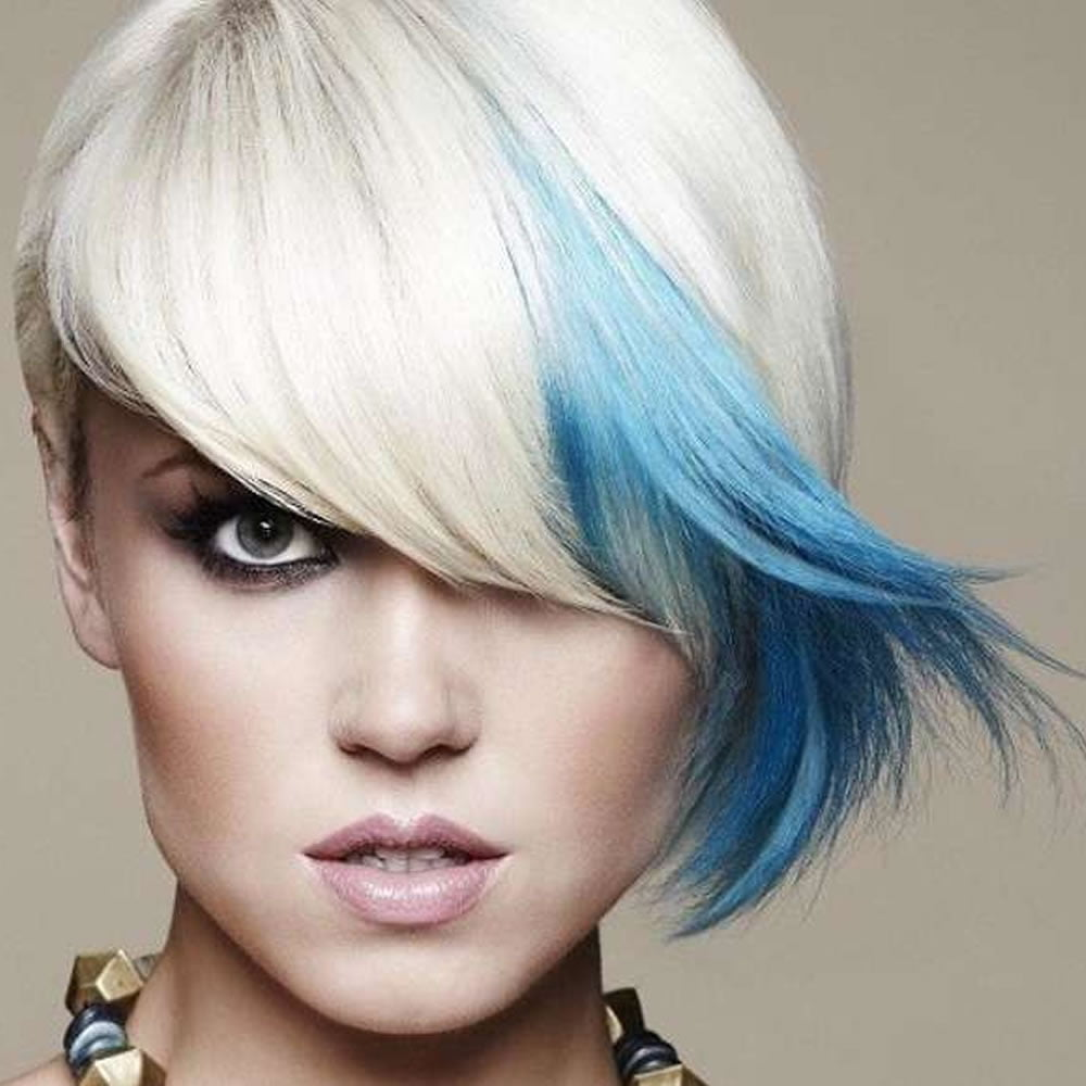 ombre blue short hair