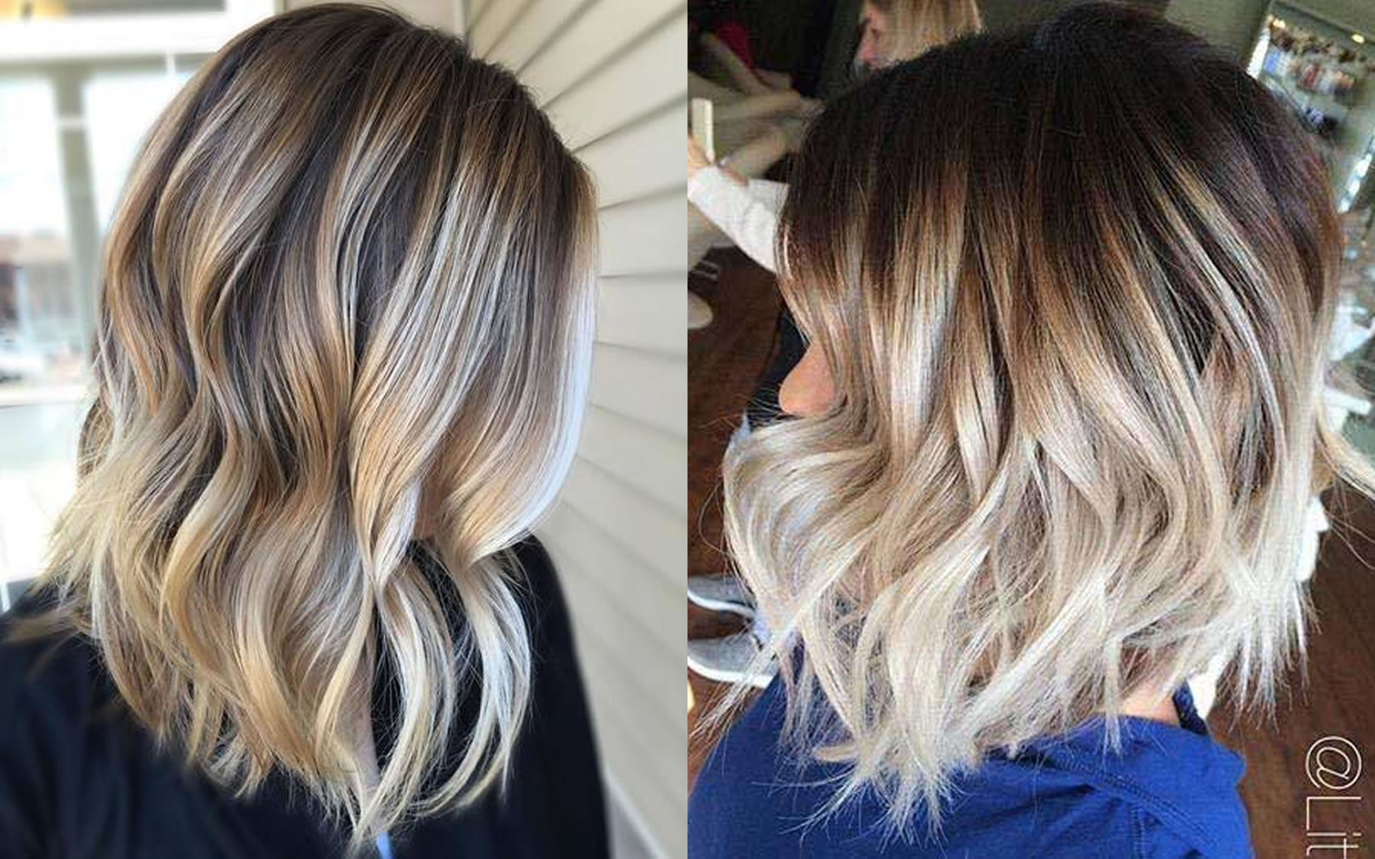 Blonde Ombre Balayage Bob Haircut Hair Colors