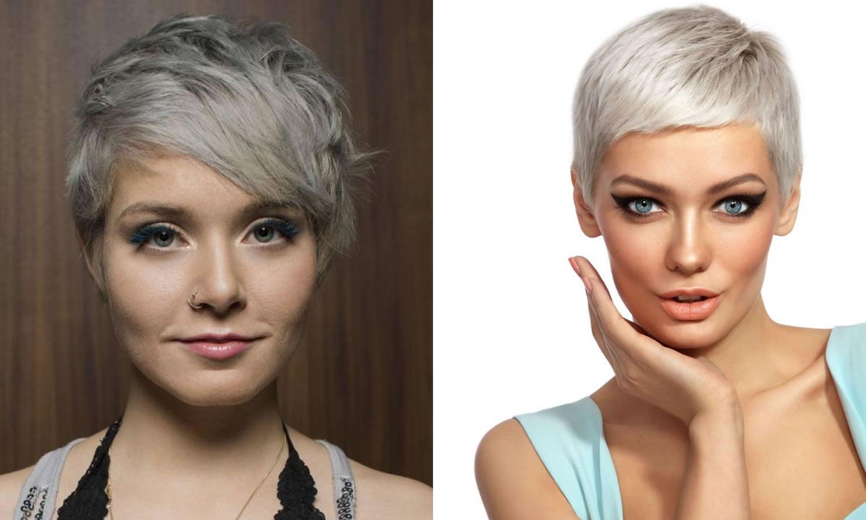 Gray Short Pixie Haircut For Women 2019 Hair Colors