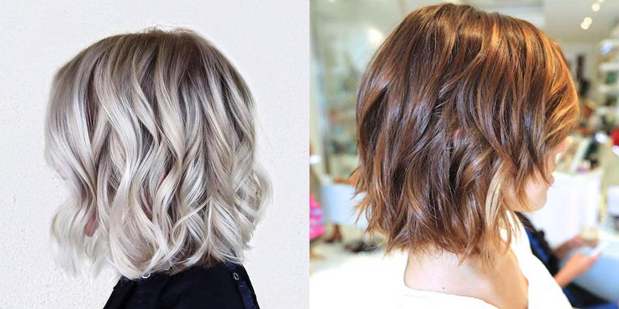 Grey Hair Color Wavy Short Bob Hairstyle Hair Colors