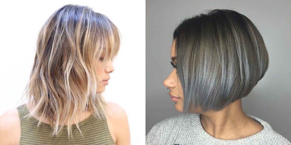 Ombre Long Bob Haircut Hair Colors