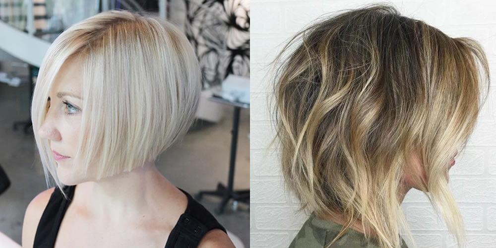 Wavy Asymmetrical Bob Haircut Hair Colors