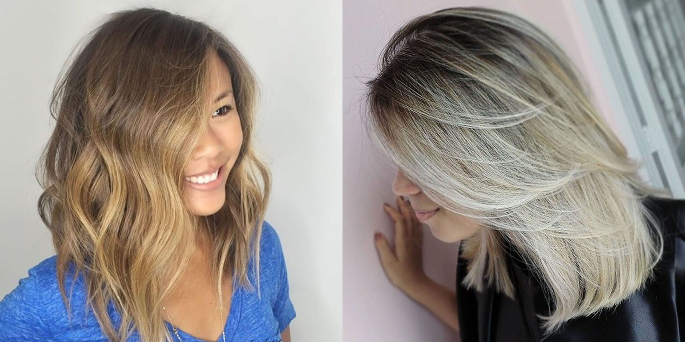Asymmetrical Long Bob Haircut For Women Hair Colors