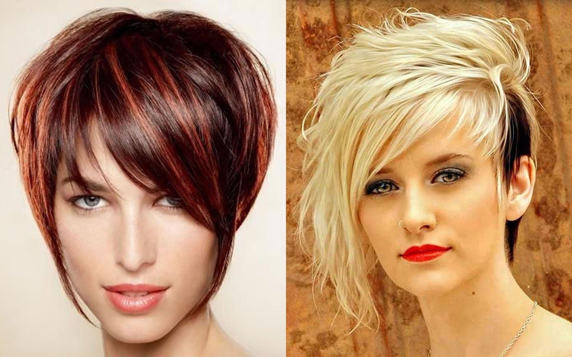 Asymmetrical Short Haircut For Ladies 2019 Summer Hair Hair Colors