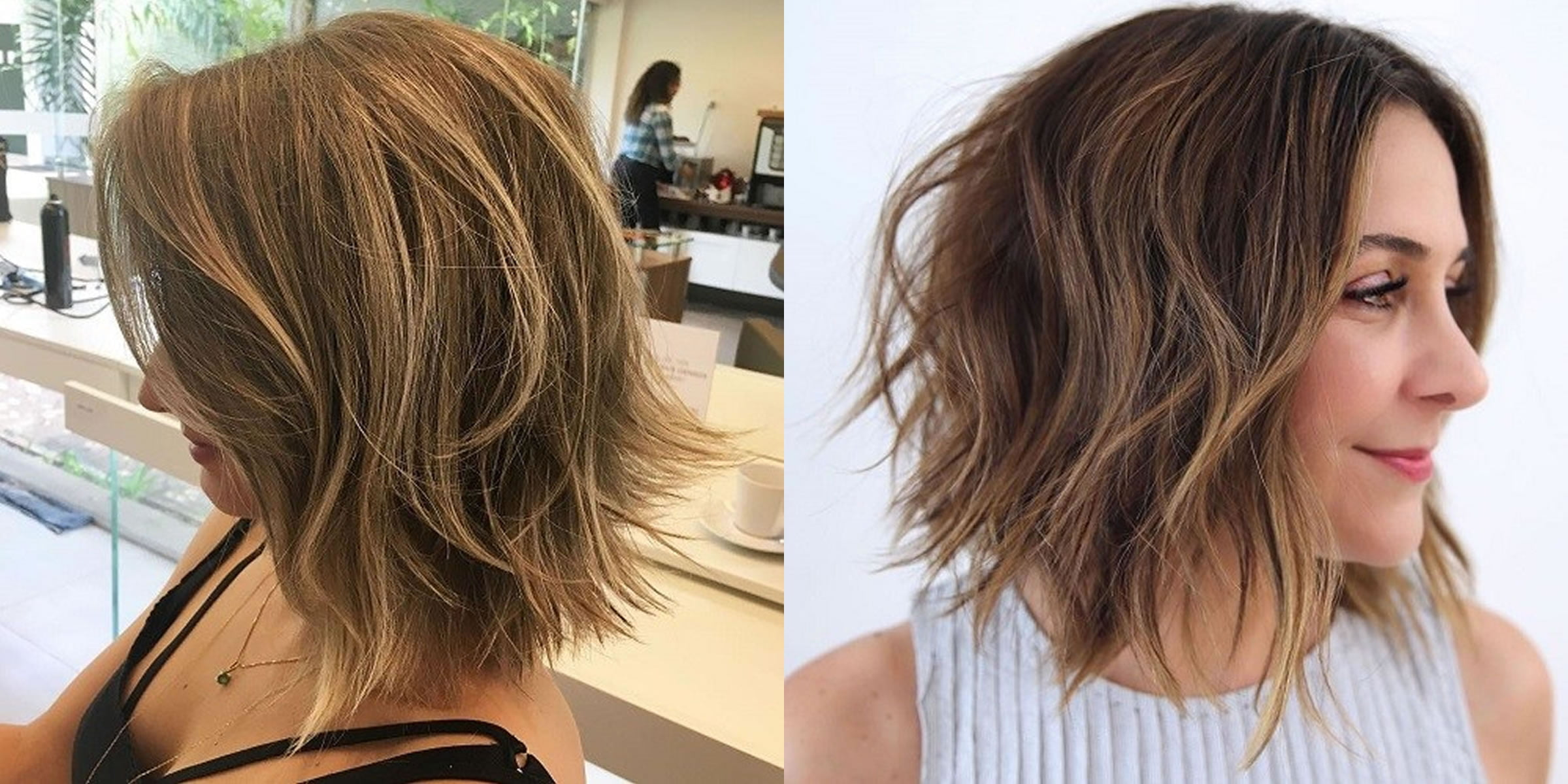 Hairstyles 2019: Layered Long Bob Haircuts For Women 2019