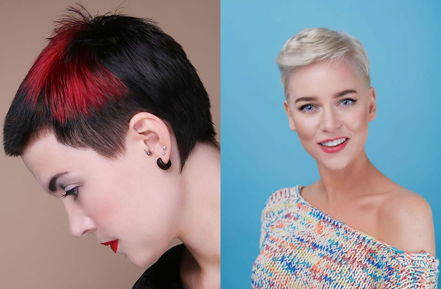 Ombre Short Pixie Cut Hairstyles 2019