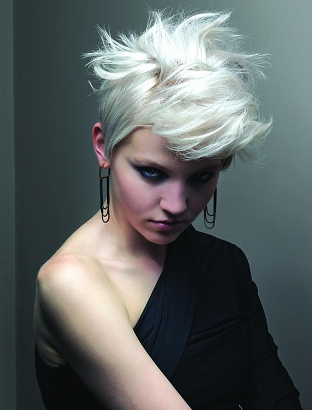 engaging grey short hair asymmetrical bob hairstyles