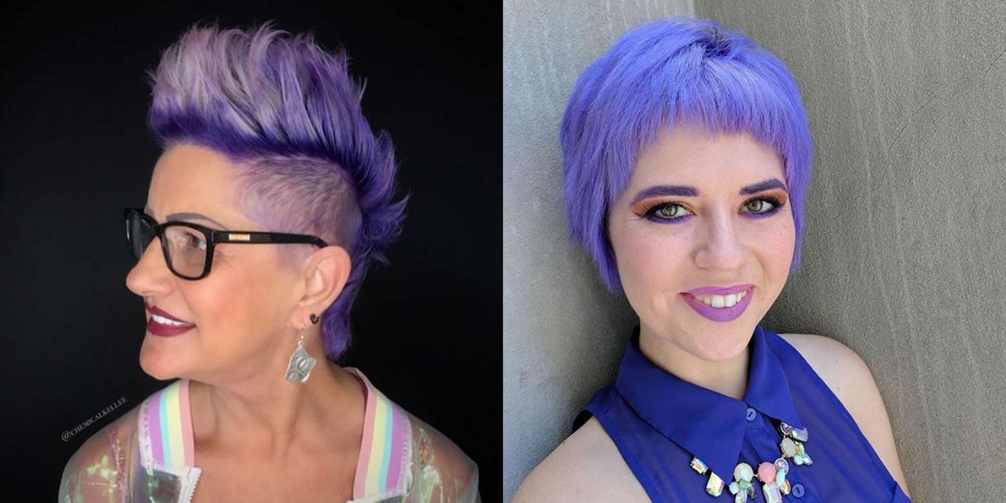 Latest Blue Short Hair Highlights Hair Color 2019 Hair Colors