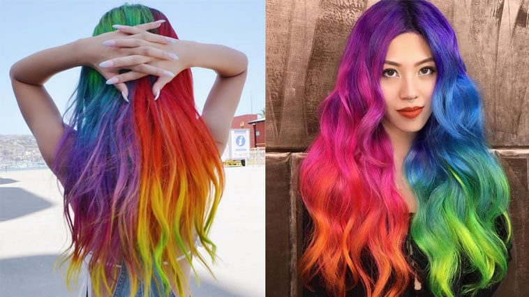 cool new hair color for long hair