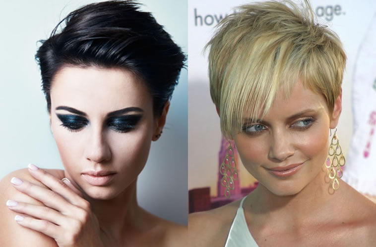 Asymmetrical short hair