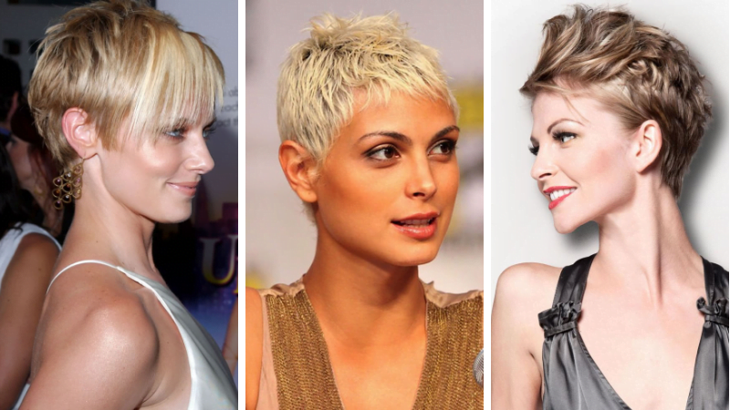Short pixie and bob haircut for ladies